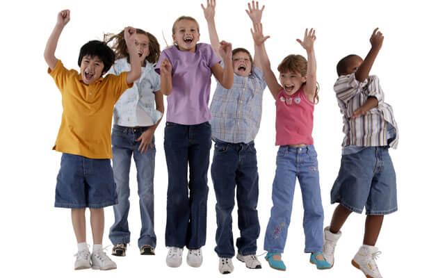 jumping children_happy