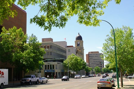 Downtown Lethbridge (Photo: Kmsiever/WC)