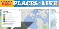 Top 25 Best Places to Live Map