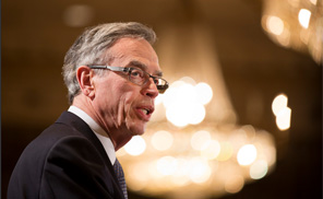 Minister of Finance Joe Oliver delivers remarks at a luncheon hosted by the Canadian Club of Toronto, on Monday, April 7, 2014. (Peter Power Photography Inc.)