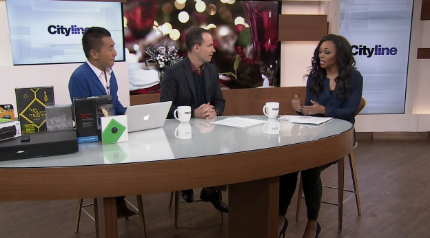 (Bruce Sellery, Winston Sih and Tracey Moore appear on Cityline on Wednesday, Nov. 26, 2014)
