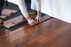 Engineered wood floor (Getty Images/slobo)