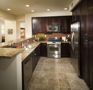 Linoleum floor in renovated kitchen (Getty Images LOOK Photography)