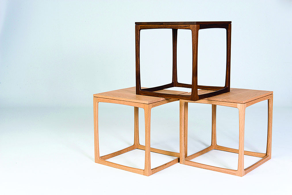 2 Folio modular side tables with integrated shelving (jasonklager.com)$2,000