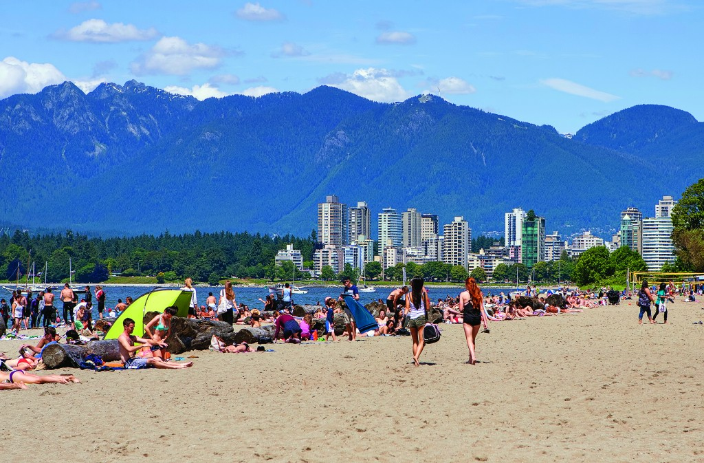 Enjoying the beach in No. 6-ranked Kitsilano, Vancouver (Destination British Columbia)