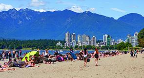 Enjoying the beach in No. 6-ranked Kitsilano, Vancouver (Destination British Columbia)