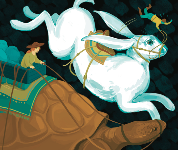 Slow and steady portfolio performance wins the investment race (Illustration by Rachel Idzerda)