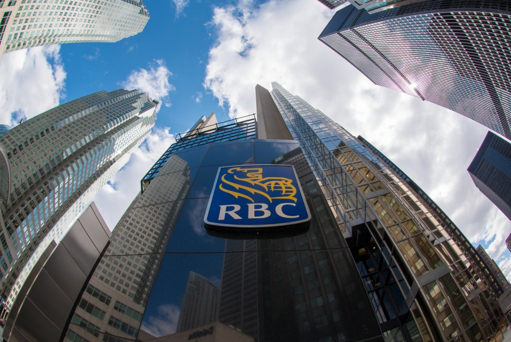 Royal Bank of Canada sign at the entrance of the company