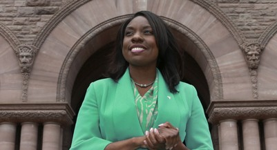 TORONTO, ON - JULY 28: Liberal MPP Mitzie Hunter inside Queen's Park, July 28, 2014. Hunter has been picked by the premier to spearhead the Ontario Retirement Pension Plan.        (Andrew Francis Wallace/Toronto Star via Getty Images)