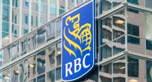 TORONTO, ONTARIO, CANADA - 2015/05/30: The symbol RBC on the glass facade of a building. The Royal Bank of Canada is one of North America's leading diversified financial companies providing banking, wealth management, insurance and capital market services. (Photo by Roberto Machado Noa/LightRocket via Getty Images)