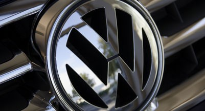 Close up of Volkswagen logo on car grill (altrendo images/Getty Images)