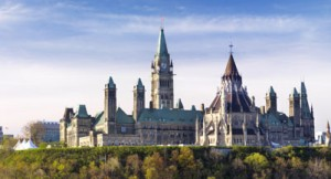 The Parliament Building in Ottawa, Ontario, Canada springtime scenic May 2012