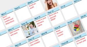 April Money Fit Calendar