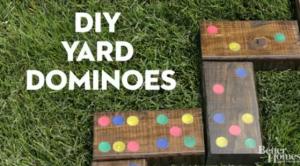 Long weekend fun, yard dominoes