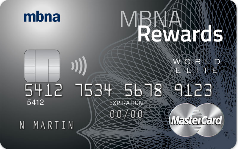 MBNA Rewards World Elite Credit Card best cash-back credit cards