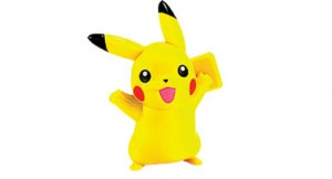 Bangkok,Thailand - October 30, 2014: Pickachu toy character from Pokemon anime. There are toy sold as part of McDonald HappyMeal toy.
