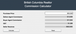 realtor commission rate calculator