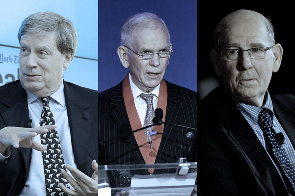 From left: Stanley Druckenmiller, Jeremy Grantham and A. Gary Shilling. (Neilson Barnard/Getty; Steve Mack/Getty; Scott Eells/Bloomberg/Getty)