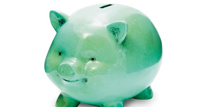 Antique Piggy Bank (Clipping Path)