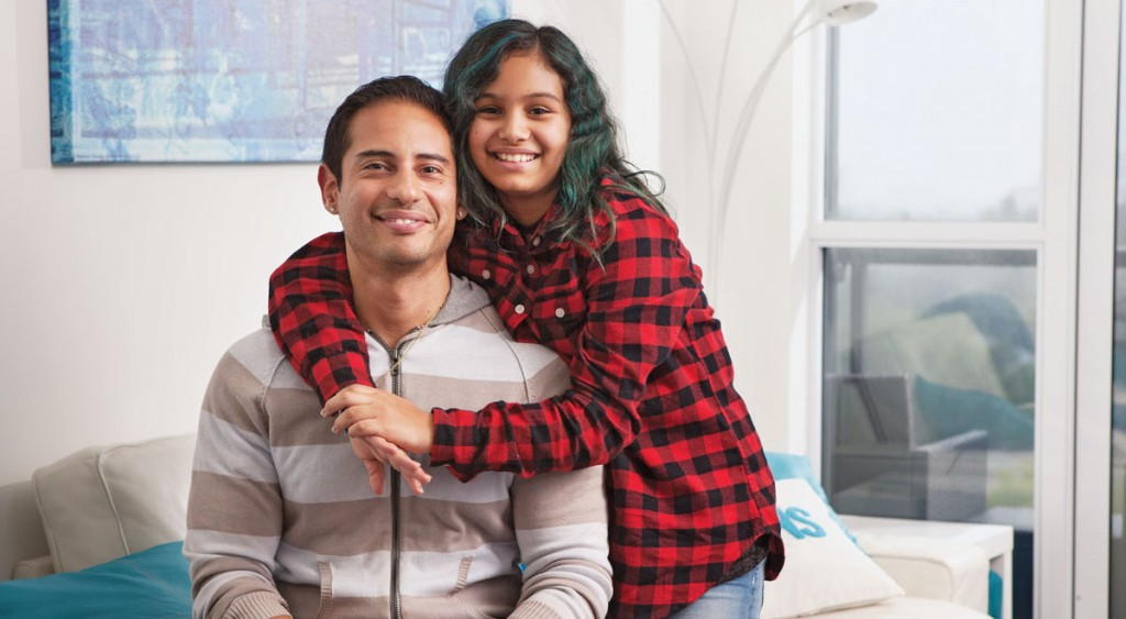 Jason and his daughter - first-time home buyers