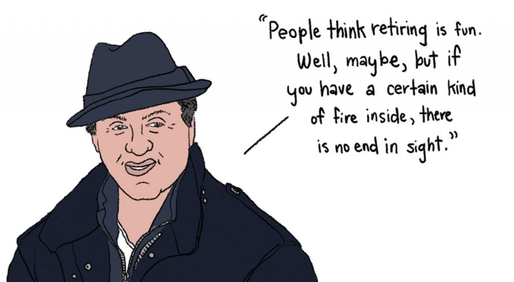Sylvester Stallone's retirement wisdom