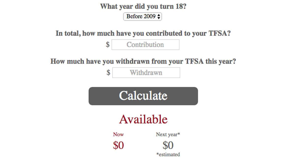 TFSA contribution room calculator - MoneySense