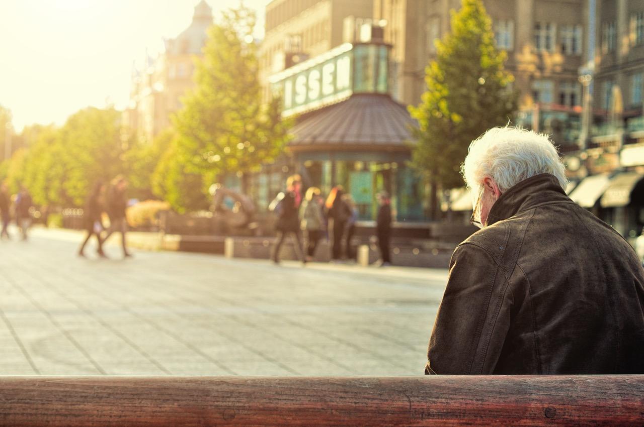 senior elderly retired filling taxes in retirement
