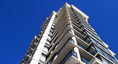 A high-rise apartment building in Vancouver
