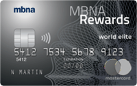MBNA rewards world elite