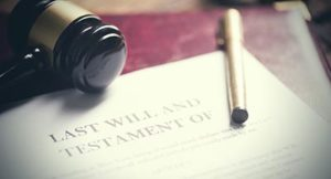 gavel beside last will and testament
