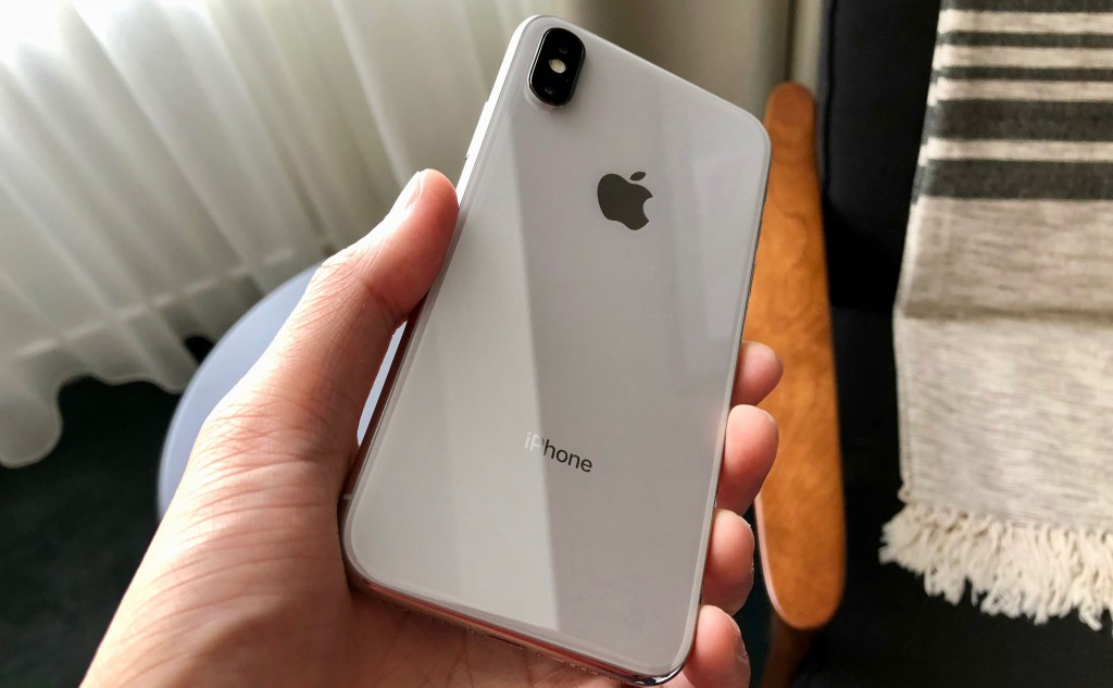 iPhone X from the back