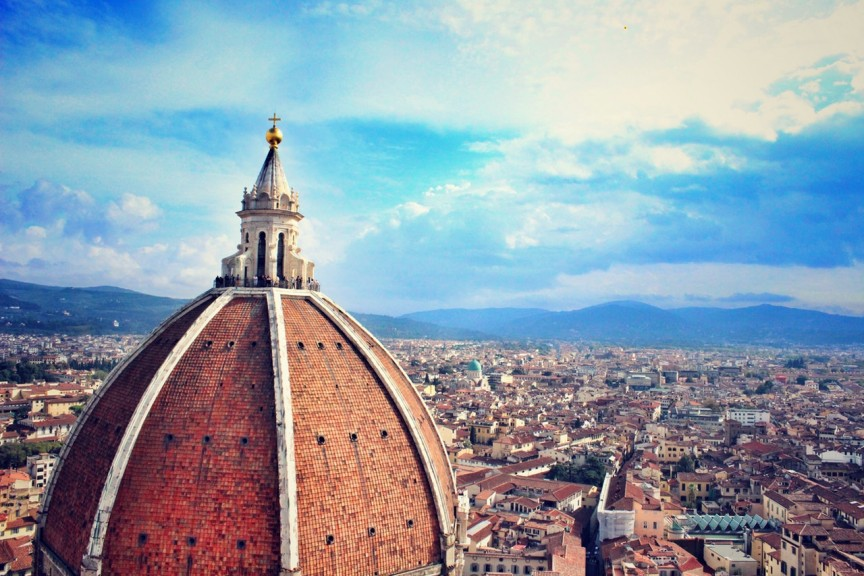 view overlooking florence italy