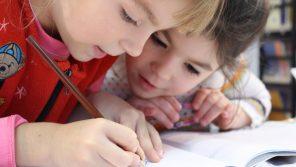kids writing saving money