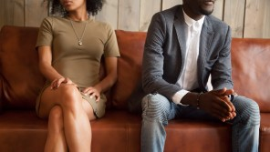 couple divorced therapy sitting beside each other fast divorce