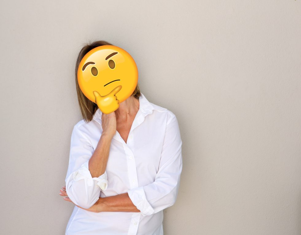senior woman pondering