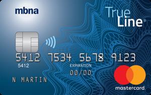 MBNA True Line Gold credit Card