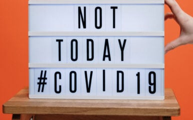 Not Today Covid sign