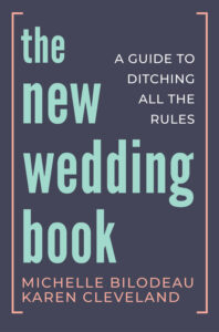 Book cover of The New Wedding Book (typography of the title)