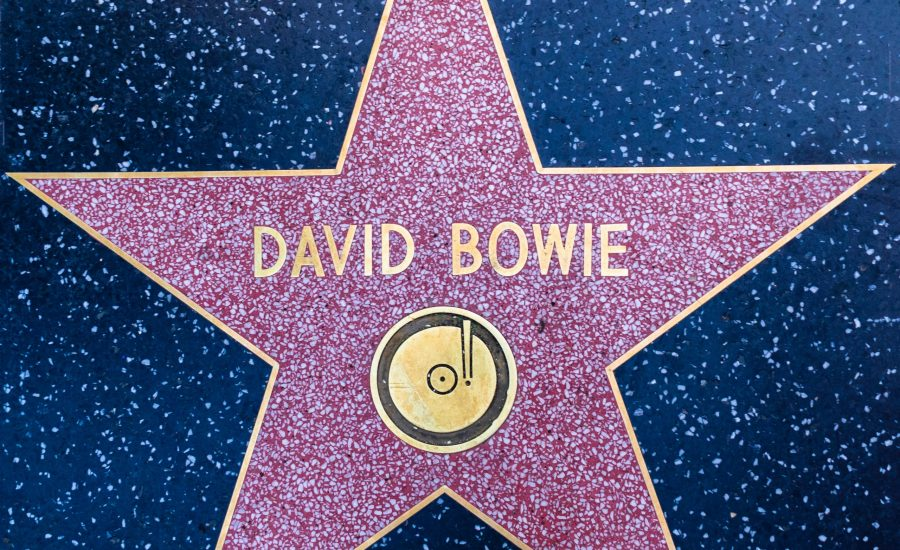 David Bowie's walk of fame star
