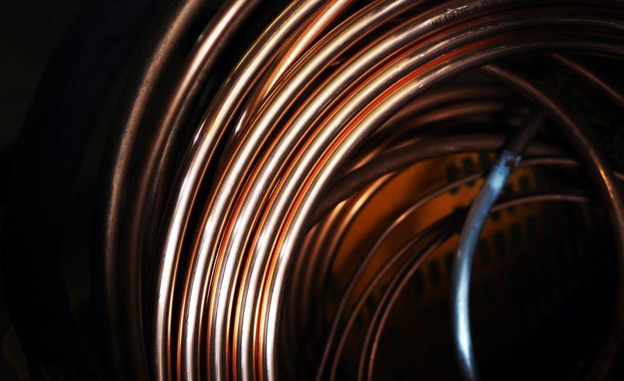 coiled shiny copper