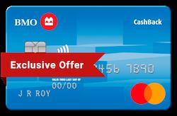 Links to BMO Cash Back Mastercard application