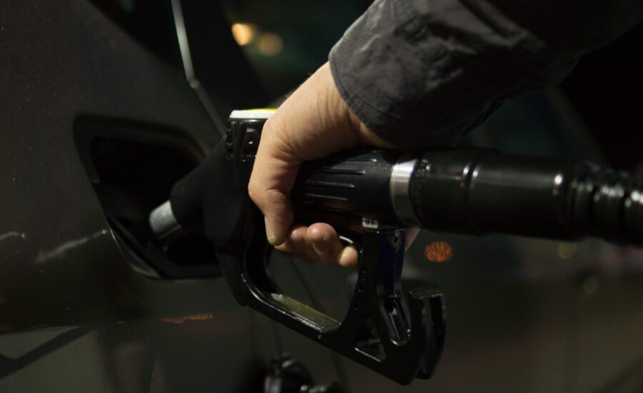 filling up vehicle with gas