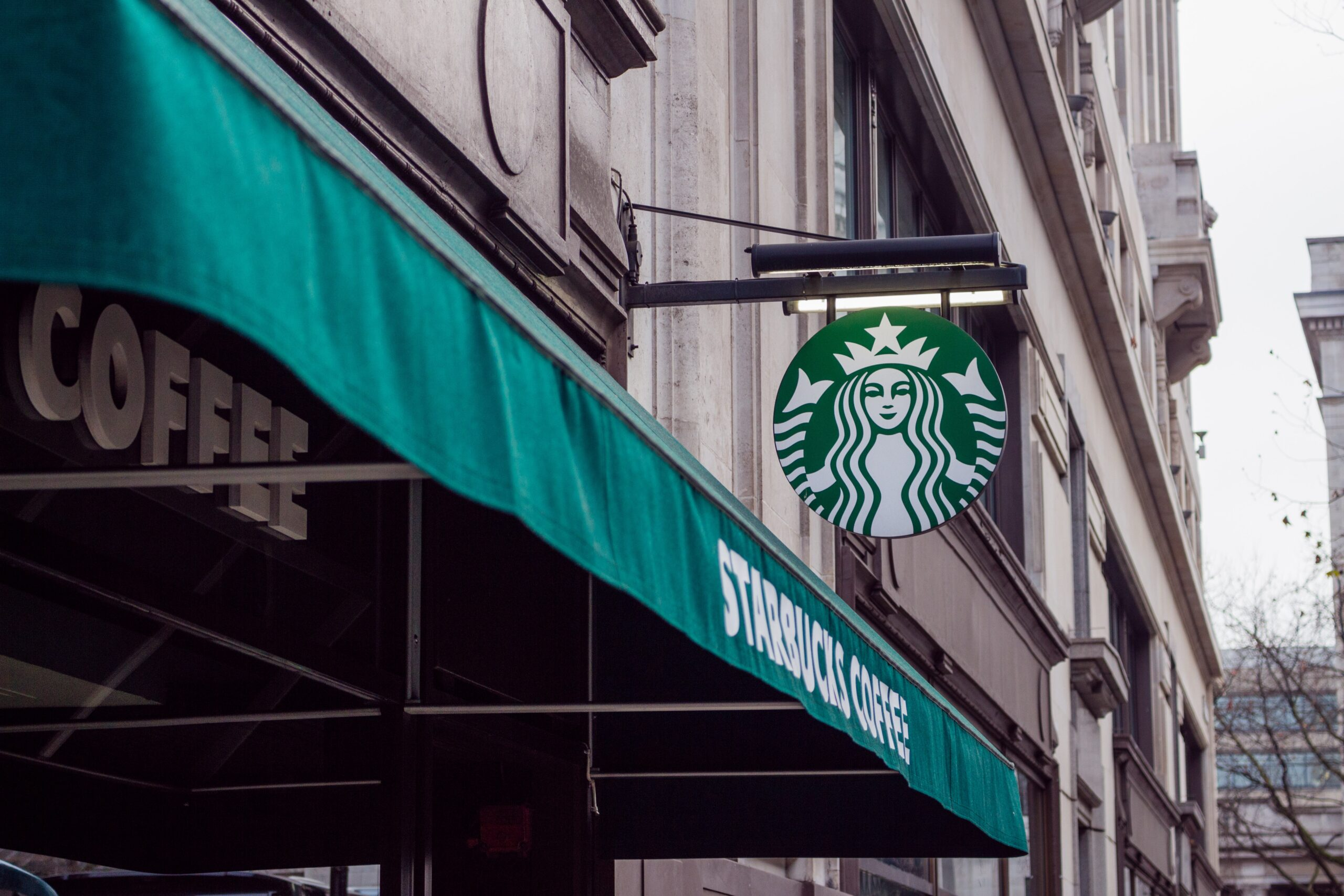 starbucks store awning and sign